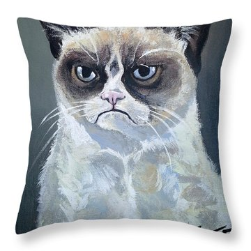 Tard - Grumpy Cat Throw Pillow