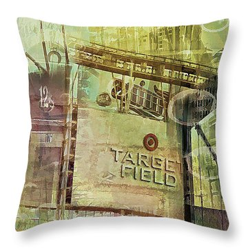 Target Field And Uptown Throw Pillow