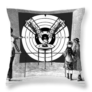 Targeted Prisoner Throw Pillow