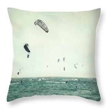 Tarifa Beach Throw Pillow by Guido Montanes Castillo