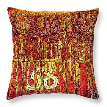 Throw Pillow featuring the photograph Tarkington Vol Fire Dept 56 by Bartz Johnson