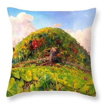 Taro Garden Of Papua Throw Pillow
