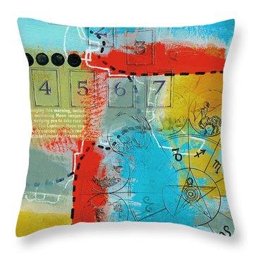 Tarot Art Abstract Throw Pillow by Corporate Art Task Force