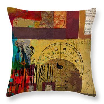 Tarot Card Abstract 003 Throw Pillow by Corporate Art Task Force