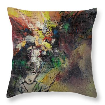 Tarot Card Abstract 005 Throw Pillow by Corporate Art Task Force