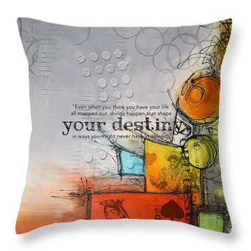 Tarot Card Abstract 006 Throw Pillow by Corporate Art Task Force