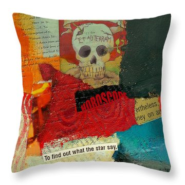 Tarot Card Abstract Throw Pillow by Corporate Art Task Force