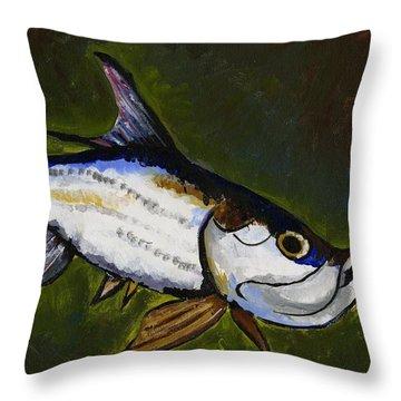 Tarpon Fish Throw Pillow
