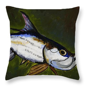 Tarpon Fish Throw Pillow