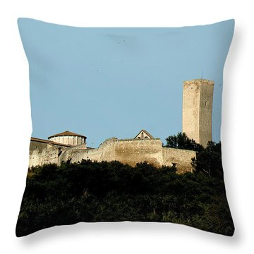 Tarquinia Landscape With Tower Throw Pillow