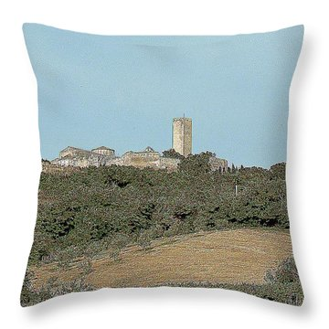 Tarquinia Lanscape Throw Pillow