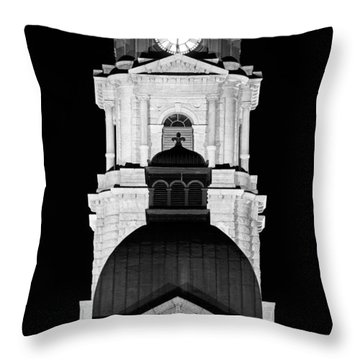 Tarrant County Courthouse Bw V1 020815 Throw Pillow