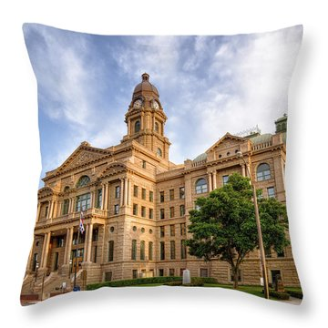 Tarrant County Courthouse II Throw Pillow