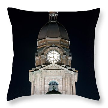Tarrant County Courthouse V2 020815 Throw Pillow