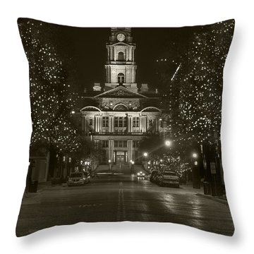 Tarrant County Retro Throw Pillow
