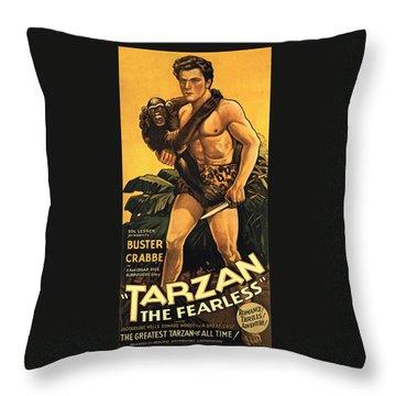 Tarzan The Fearless  Throw Pillow