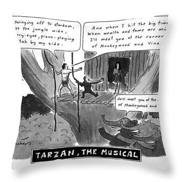 Tarzan The Musical Throw Pillow