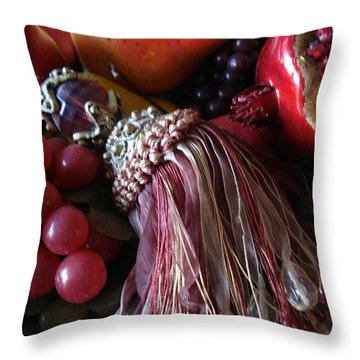 Tassel With Fruit Throw Pillow