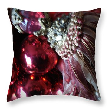 Tassel With Red Ornaments Throw Pillow