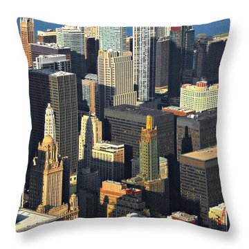 Taste Of Chicago From Above Throw Pillow by Christine Till