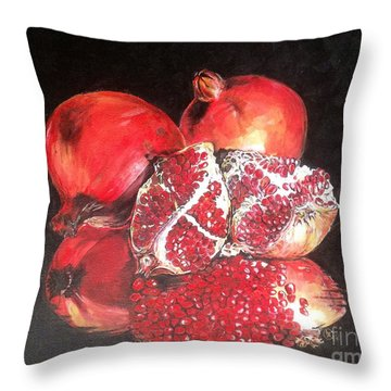 Taste Of Red Throw Pillow by Iya Carson