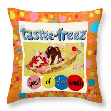 Tastee Freez Throw Pillow