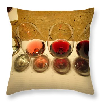 Tasting Throw Pillow