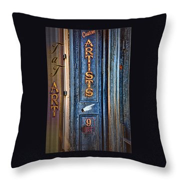 Tat Art Throw Pillow