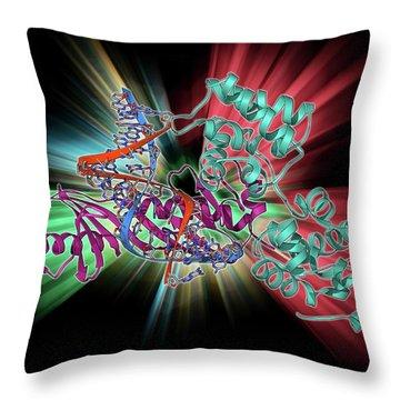 Double Helix Throw Pillows