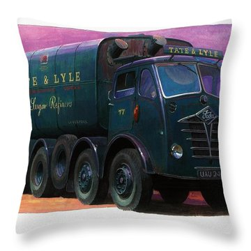 Tate And Lyle Foden. Throw Pillow by Mike  Jeffries