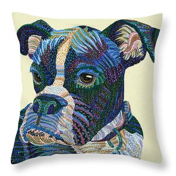 Tater - Portrait Of A Boxer Throw Pillow