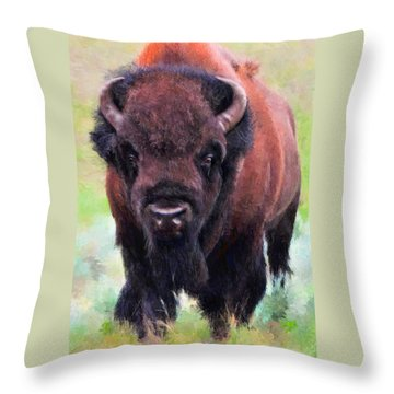 Da105 Tatonka By Daniel Adams Throw Pillow