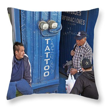 Tatoo Guys Throw Pillow