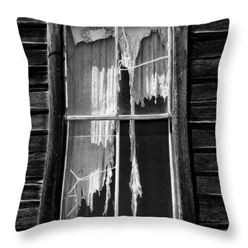 Tattered And Torn Throw Pillow by Cat Connor