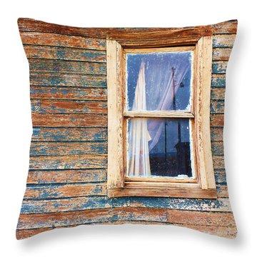 Tattered Throw Pillow by Anna Villarreal Garbis
