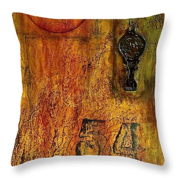 Tattered Wall  Throw Pillow