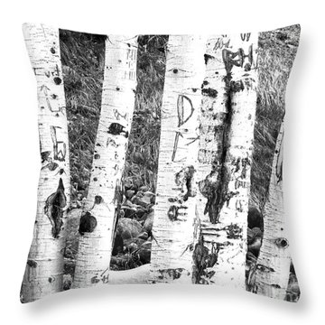 Tattoo Trees Throw Pillow by Rebecca Margraf
