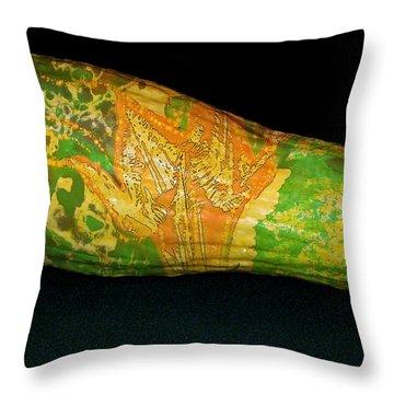 Tattooed Squash Throw Pillow by Barbara S Nickerson