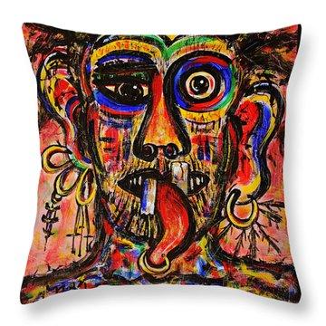 Tattooist Throw Pillow by Natalie Holland