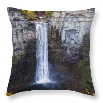 Taughannock Falls In Autumn Throw Pillow