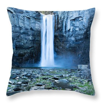 Taughannock Falls In Spring Throw Pillow