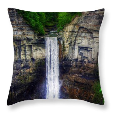 Taughannock Falls Ulysses Ny Throw Pillow by Tim Buisman