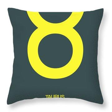 Taurus Zodiac Sign Yellow Throw Pillow