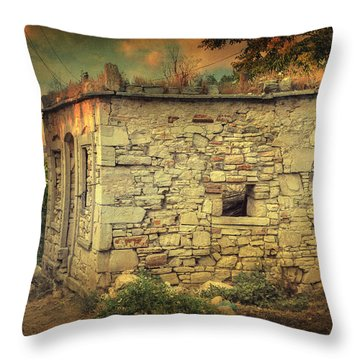 Tavern Throw Pillow by Taylan Apukovska