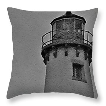 Throw Pillow featuring the photograph Tawas Point In The Rain by Daniel Thompson