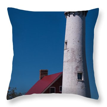 Throw Pillow featuring the photograph Tawas Point Lighthouse by Patrick Shupert