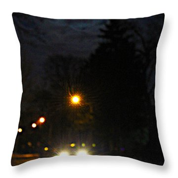 Throw Pillow featuring the photograph Taxi In Full Moon by Nina Silver