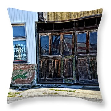 Taxi Stand Throw Pillow by Mike Martin