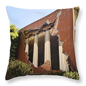 Taylor Hall Trompe L' Oiel Throw Pillow