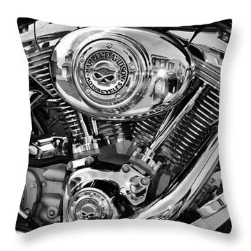 V-twin Black Throw Pillow